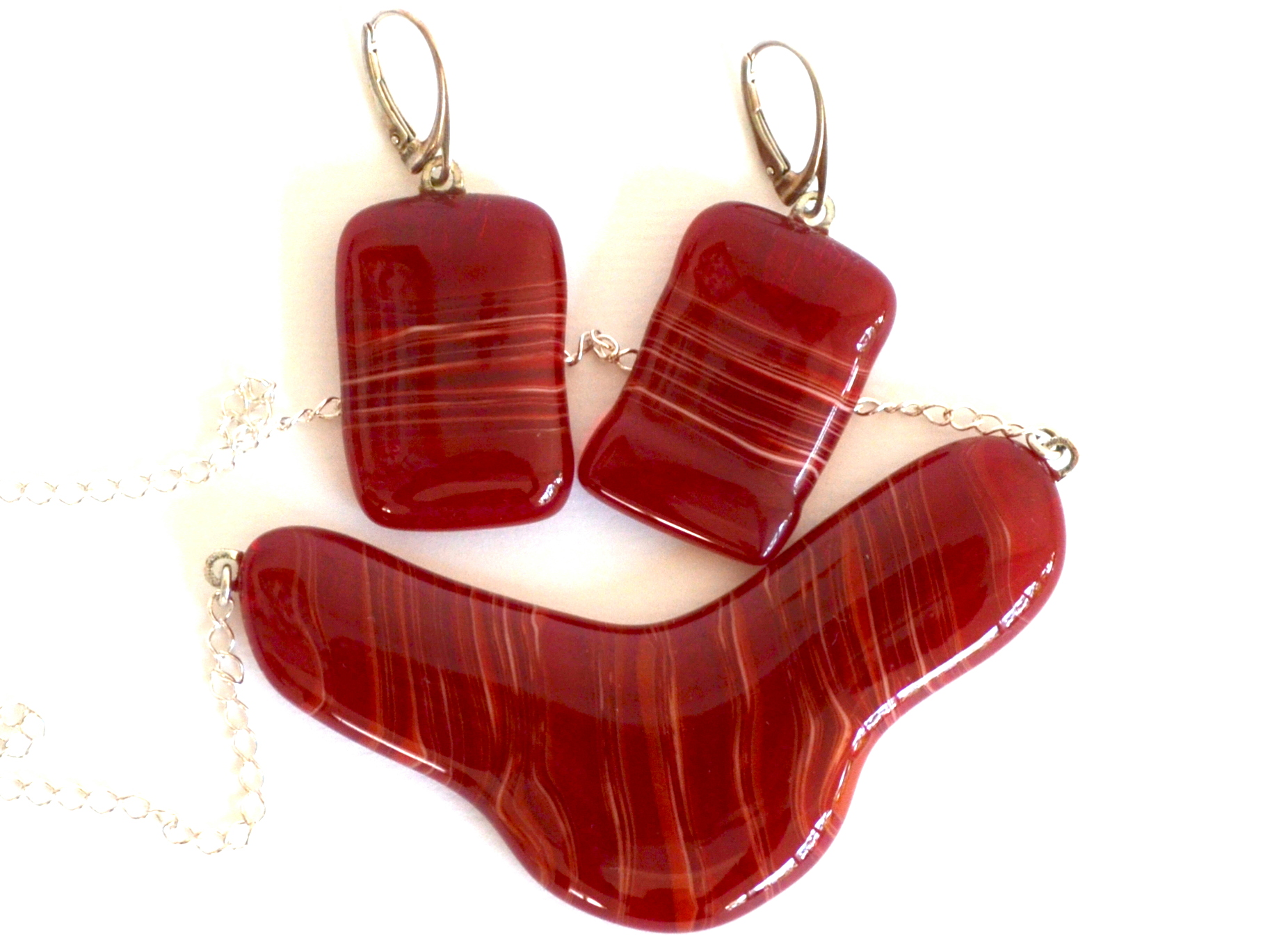 Glass Jewelry Set 'Passion' by Red Point Tailor