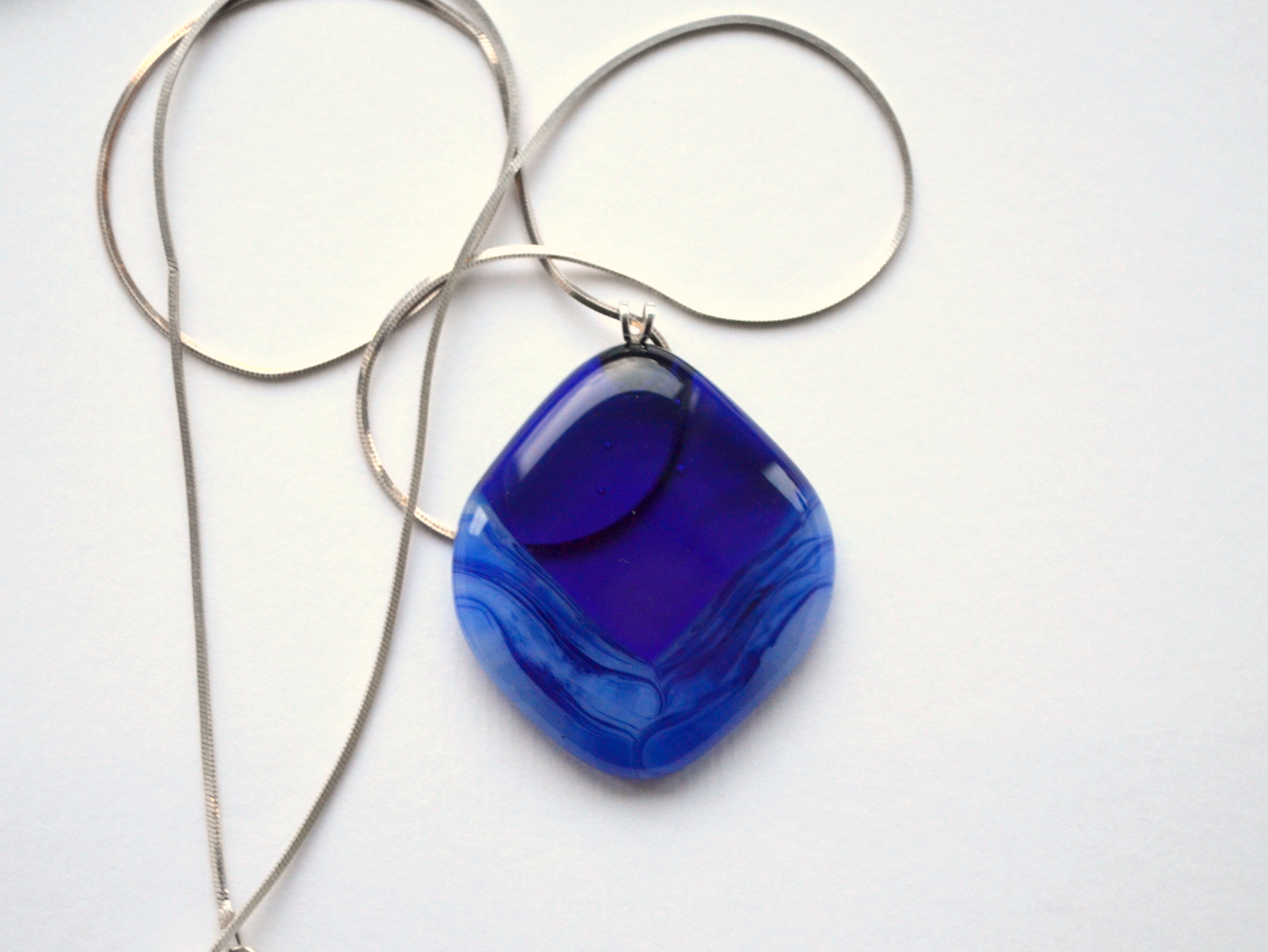 Blue Shadows - Glass Pendant