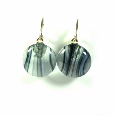 earrings, corporate look, Gray Shadows, glass earrings, corporate jewelry, professional look