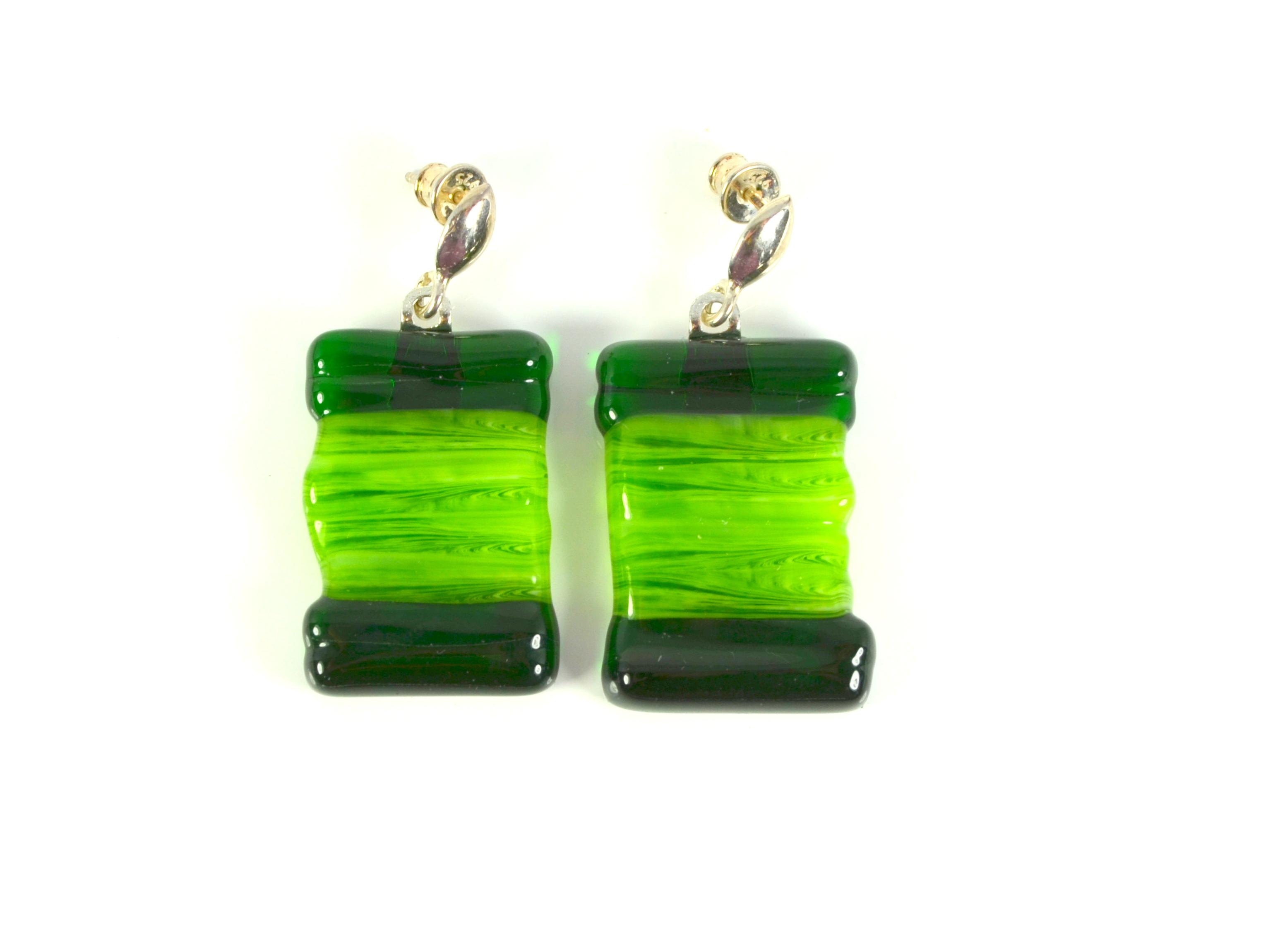 Salt Marshes in the Spring 1 - Glass Earrings