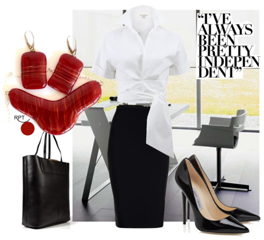 Office Outfit – White Blouse – Timeless Classic