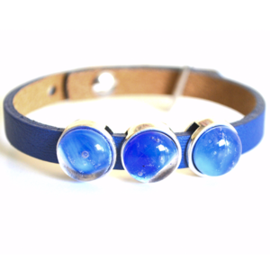 jewelry, glass jewelry, jewellery, bracelet, bracelets, blue, leather, red point tailor,