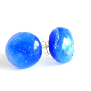 jewelry, glass jewelry, jewellery, earrings, stud earrings, blue, red point tailor,