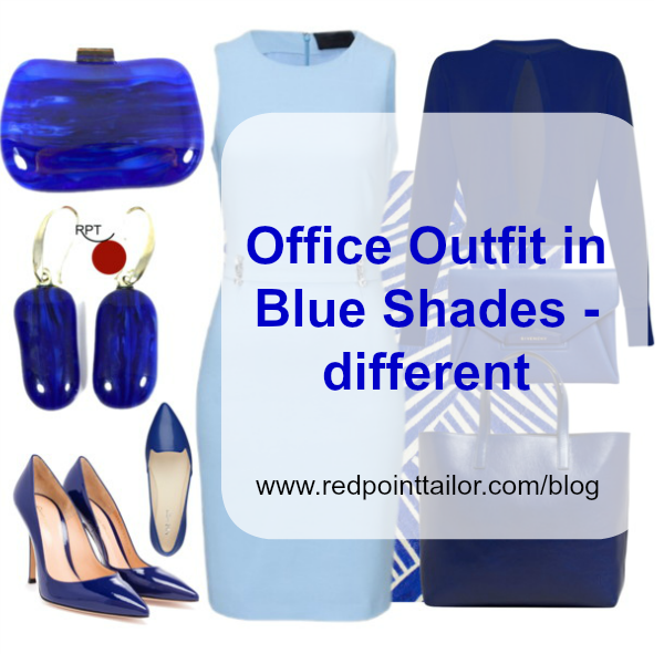 Office Outfit in Blue Shades – different