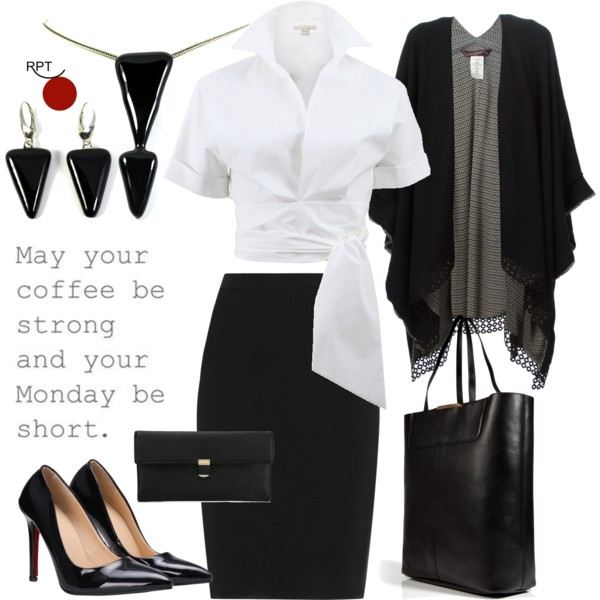 Monday Business Attire – Black & White