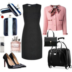 be inspired, black, black handbag, black high heels, black pumps, Business Outfit Combination, career minded women, confidence, earring, earrings, fashion, French jacket, how to dress to the office, jewellery, little black dress, modern jewellery, ootd, pendant, pendants, pink, Red Point Tailor, Samsonite Briefcase, savvy women, unleash your creativity, women who work