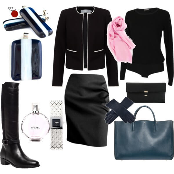 My #1 Business Trip Outfit Combination – French Jacheck and a Pencil Skirt