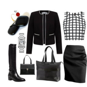 be inspired, black, black handbag, black pencil skirt, Business Outfit Combination, career minded women, confidence, earring, earrings, fashion, French jacket, gray jacket, how to, how to dress to the office, HowTo, jewellery, modern jewellery, ootd, pencil skirt, pendant, pendants, Powerful Outfit Combination, Red Point Tailor, Samsonite Briefcase, savvy women, unleash your creativity, women who work