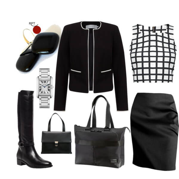 The No. 1 Powerful Outfit Combination – French Jacheck and a Pencil Skirt