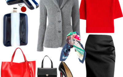 Today on the agenda – Red on Monday – One Jacket Many Looks